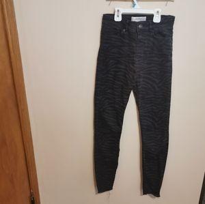 Zara animal print jeans size 2